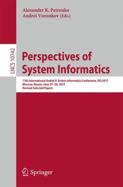 Couverture de l'ouvrage Perspectives of System Informatics