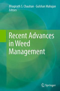 Couverture de l'ouvrage Recent Advances in Weed Management