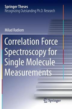 Couverture de l'ouvrage Correlation Force Spectroscopy for Single Molecule Measurements
