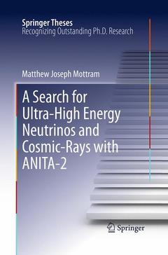 Couverture de l'ouvrage A search for ultra-high energy neutrinos and cosmic-rays with ANITA-2