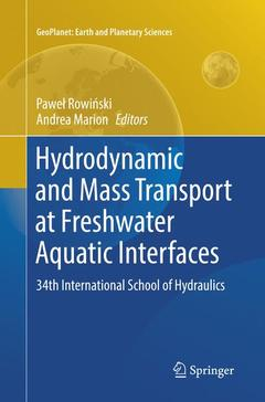 Couverture de l'ouvrage Hydrodynamic and Mass Transport at Freshwater Aquatic Interfaces