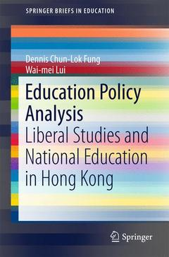 Couverture de l'ouvrage Education Policy Analysis