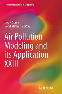 Couverture de l'ouvrage Air Pollution Modeling and its Application XXIII