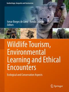 Couverture de l'ouvrage Wildlife Tourism, Environmental Learning and Ethical Encounters