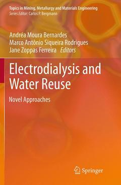 Couverture de l'ouvrage Electrodialysis and Water Reuse