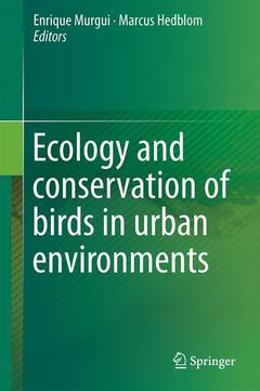 Couverture de l'ouvrage Ecology and Conservation of Birds in Urban Environments