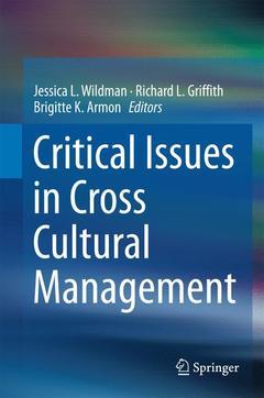 Couverture de l'ouvrage Critical Issues in Cross Cultural Management