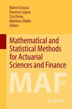 Couverture de l'ouvrage Mathematical and Statistical Methods for Actuarial Sciences and Finance