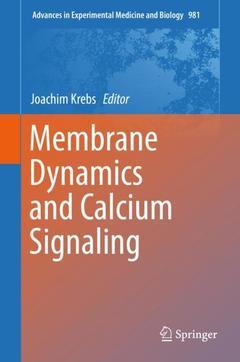 Couverture de l'ouvrage Membrane Dynamics and Calcium Signaling