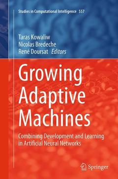 Couverture de l'ouvrage Growing Adaptive Machines