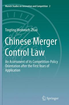 Cover of the book Chinese Merger Control Law