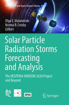 Cover of the book Solar Particle Radiation Storms Forecasting and Analysis