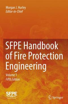 Couverture de l'ouvrage SFPE Handbook of Fire Protection Engineering (3 volume set)