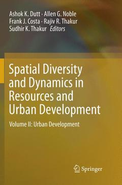 Couverture de l'ouvrage Spatial Diversity and Dynamics in Resources and Urban Development