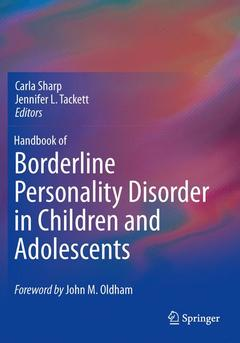 Couverture de l'ouvrage Handbook of Borderline Personality Disorder in Children and Adolescents