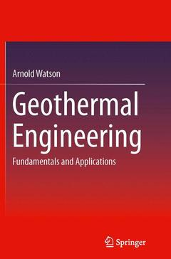 Couverture de l'ouvrage Geothermal Engineering