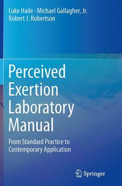 Couverture de l'ouvrage Perceived Exertion Laboratory Manual