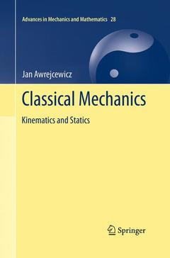 Couverture de l'ouvrage Classical mechanics: Applied mechanics and mechatronics
