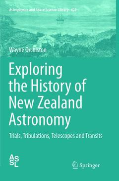 Cover of the book Exploring the History of New Zealand Astronomy