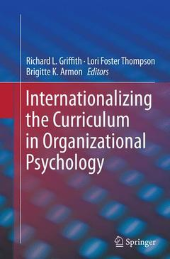 Cover of the book Internationalizing the Curriculum in Organizational Psychology