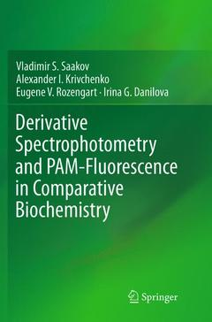 Couverture de l'ouvrage Derivative Spectrophotometry and PAM-Fluorescence in Comparative Biochemistry