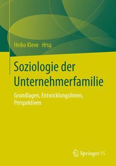 Couverture de l'ouvrage Soziologie der Unternehmerfamilie