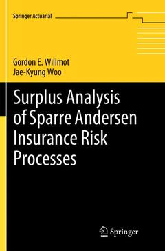 Couverture de l'ouvrage Surplus Analysis of Sparre Andersen Insurance Risk Processes