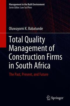 Cover of the book Total Quality Management of Construction Firms in South Africa