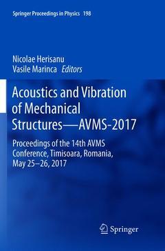 Couverture de l'ouvrage Acoustics and Vibration of Mechanical Structures—AVMS-2017