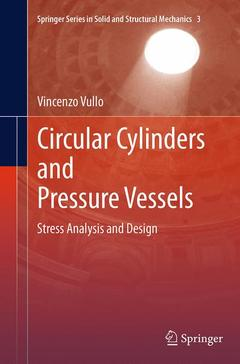 Couverture de l'ouvrage Circular Cylinders and Pressure Vessels