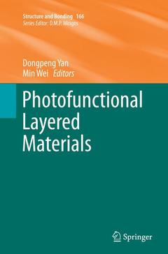 Couverture de l'ouvrage Photofunctional Layered Materials