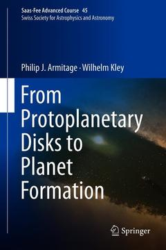 Cover of the book From Protoplanetary Disks to Planet Formation
