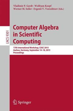 Couverture de l'ouvrage Computer Algebra in Scientific Computing