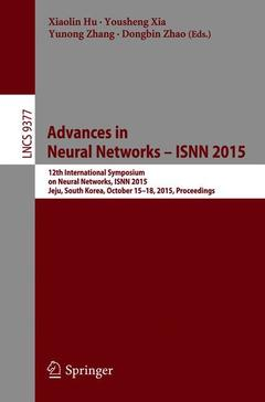 Couverture de l'ouvrage Advances in Neural Networks - ISNN 2015