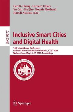 Couverture de l'ouvrage Inclusive Smart Cities and Digital Health