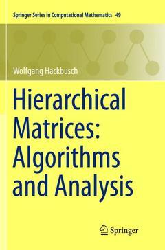 Couverture de l'ouvrage Hierarchical Matrices