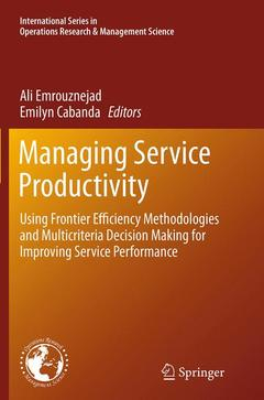 Couverture de l'ouvrage Managing Service Productivity