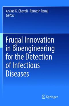 Couverture de l'ouvrage Frugal Innovation in Bioengineering for the Detection of Infectious Diseases