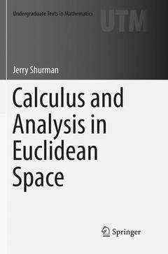 Couverture de l'ouvrage Calculus and Analysis in Euclidean Space