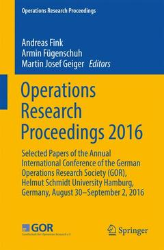 Couverture de l'ouvrage Operations Research Proceedings 2016