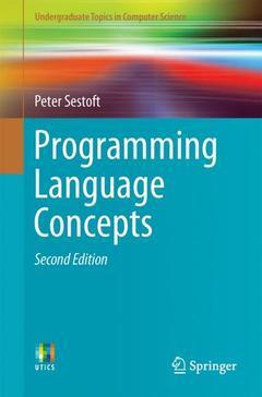 Couverture de l'ouvrage Programming Language Concepts