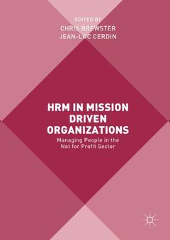 Cover of the book HRM in Mission Driven Organizations