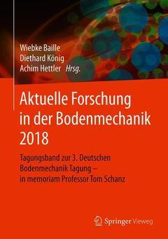 Couverture de l'ouvrage Aktuelle Forschung in der Bodenmechanik 2018