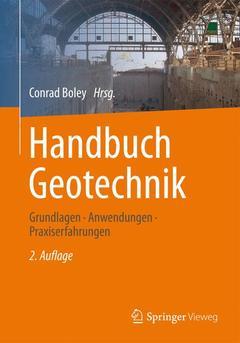 Couverture de l'ouvrage Handbuch Geotechnik