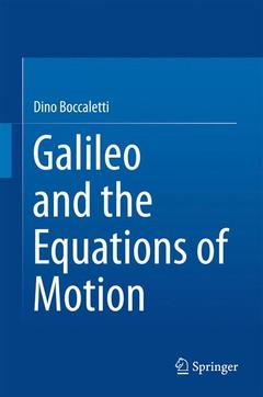 Couverture de l'ouvrage Galileo and the Equations of Motion