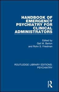 Cover of the book Handbook of Emergency Psychiatry for Clinical Administrators