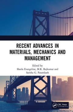 Couverture de l'ouvrage Recent Advances in Materials, Mechanics and Management