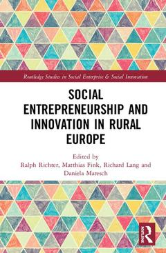 Couverture de l'ouvrage Social Entrepreneurship and Innovation in Rural Europe