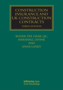 Couverture de l'ouvrage Construction Insurance and UK Construction Contracts
