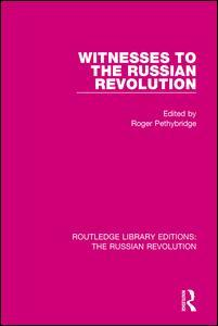Couverture de l'ouvrage Witnesses to the Russian Revolution